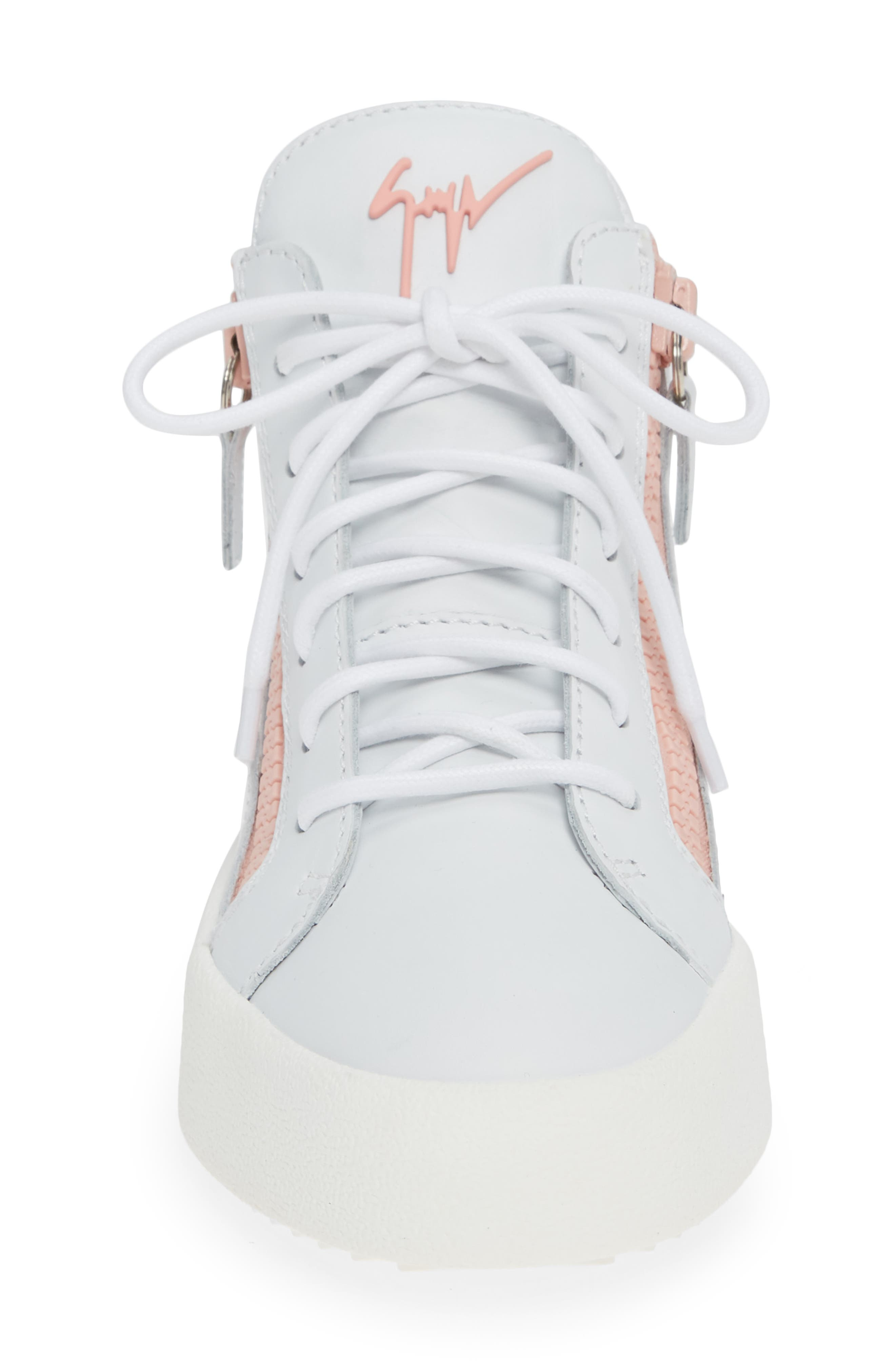 ,                             May London High Top Sneaker,                             Alternate thumbnail 4, color,                             WHITE/ PINK