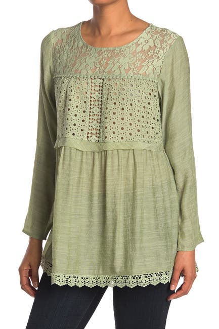 Image of Forgotten Grace Lace Long Sleeve Blouse