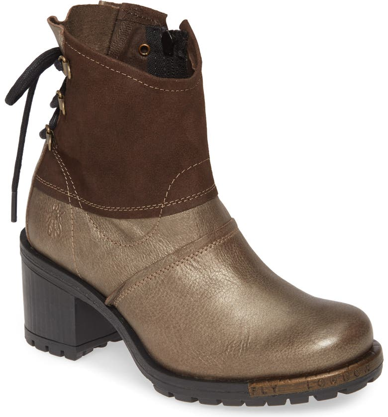 FLY LONDON Lesi Boot, Main, color, GREY LEATHER