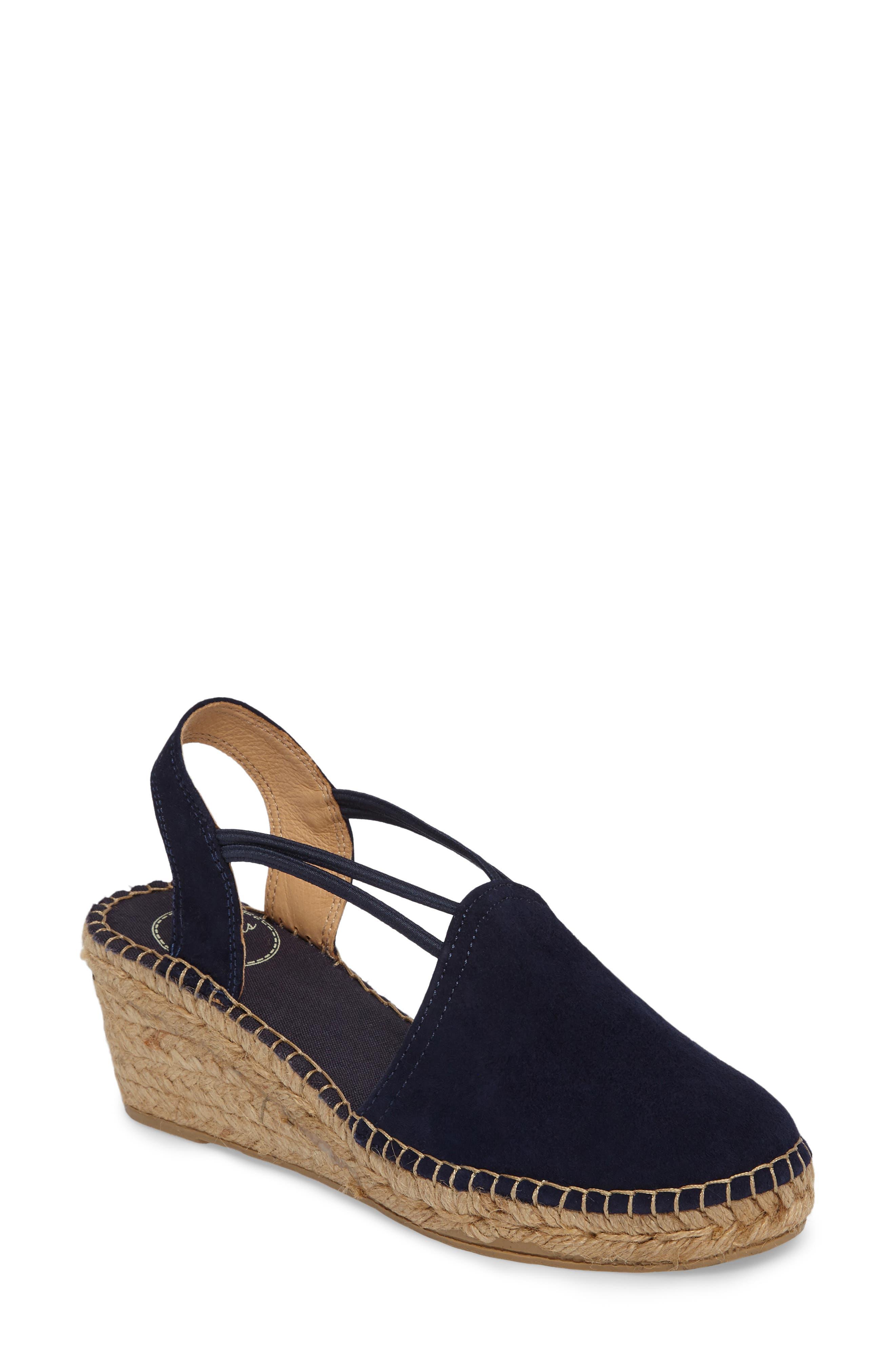 'Tremp' Slingback Espadrille Sandal, Main, color, NAVY SUEDE