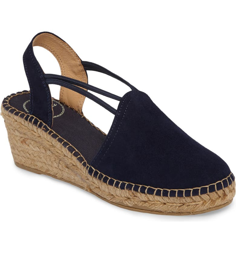 TONI PONS 'Tremp' Slingback Espadrille Sandal, Main, color, NAVY SUEDE