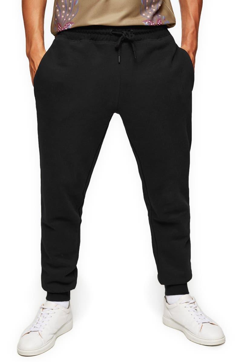 TOPMAN Core Sweatpants, Main, color, BLACK
