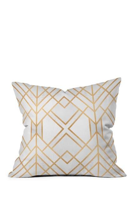 Image of Deny Designs Elisabeth Fredriksson Golden Geo Square Throw Pillow