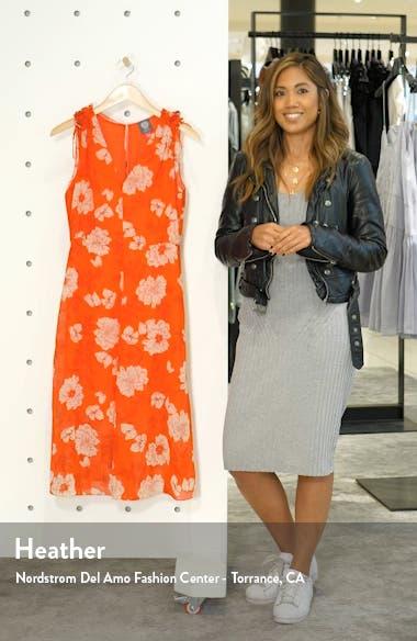 Floral Print Tie Shoulder Chiffon Dress, sales video thumbnail