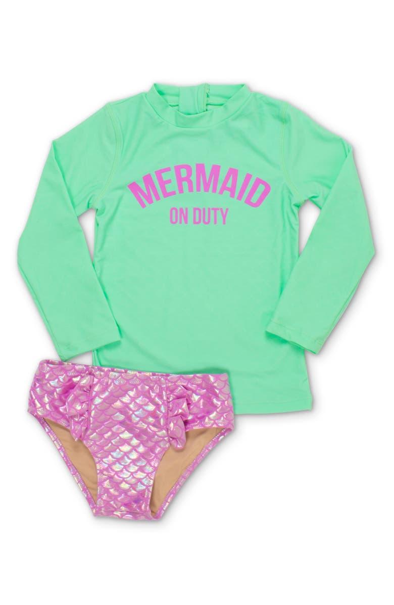 SHADE CRITTERS Mermaid on Duty Two-Piece Rashguard Swimsuit, Main, color, 390