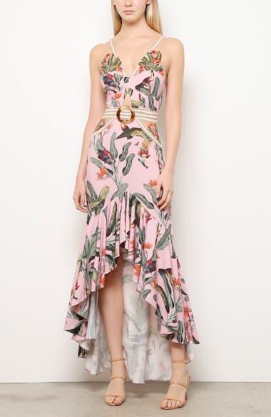 Tropical Cutout High/Low Gown, video thumbnail