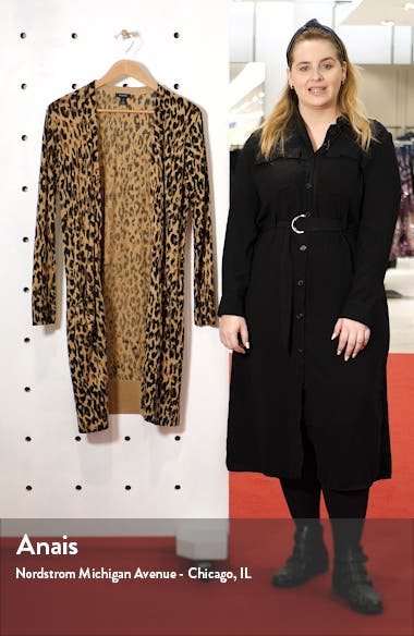 Leopard Print Long Cardigan, sales video thumbnail