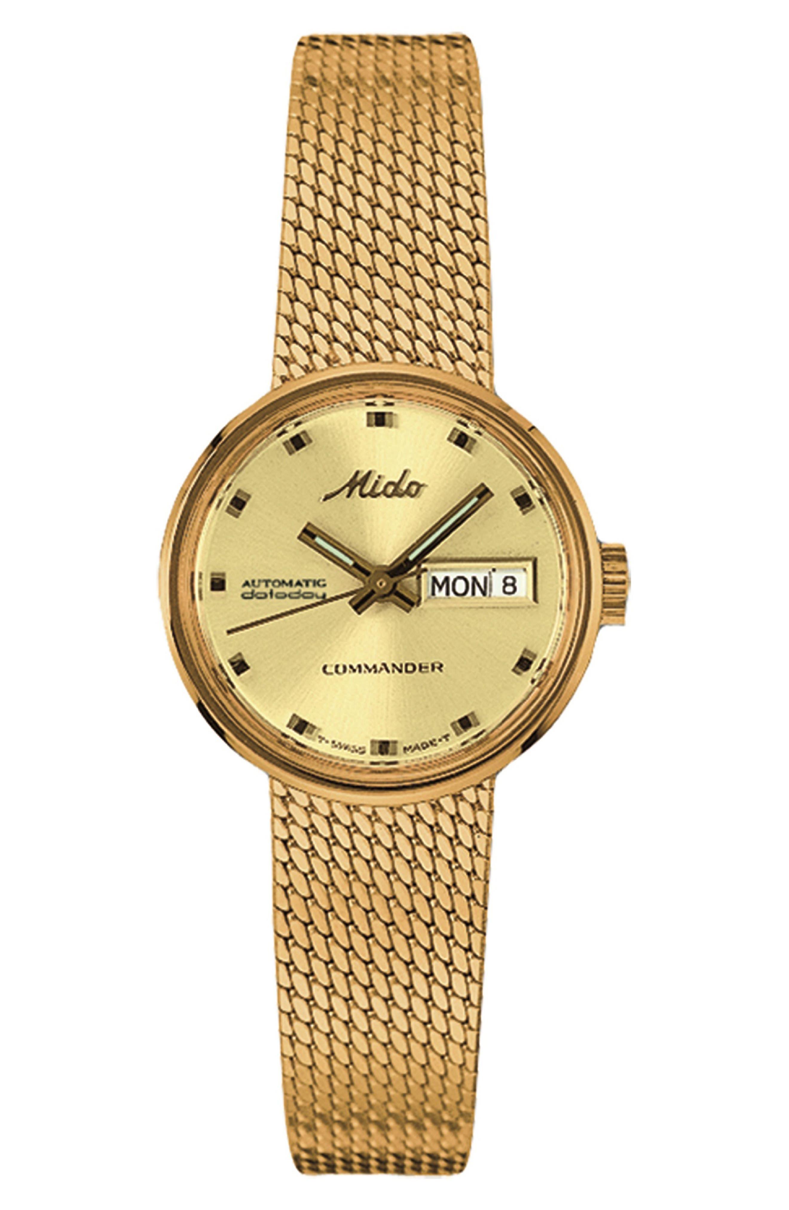 Commander 1959 Automatic Mesh Strap Watch