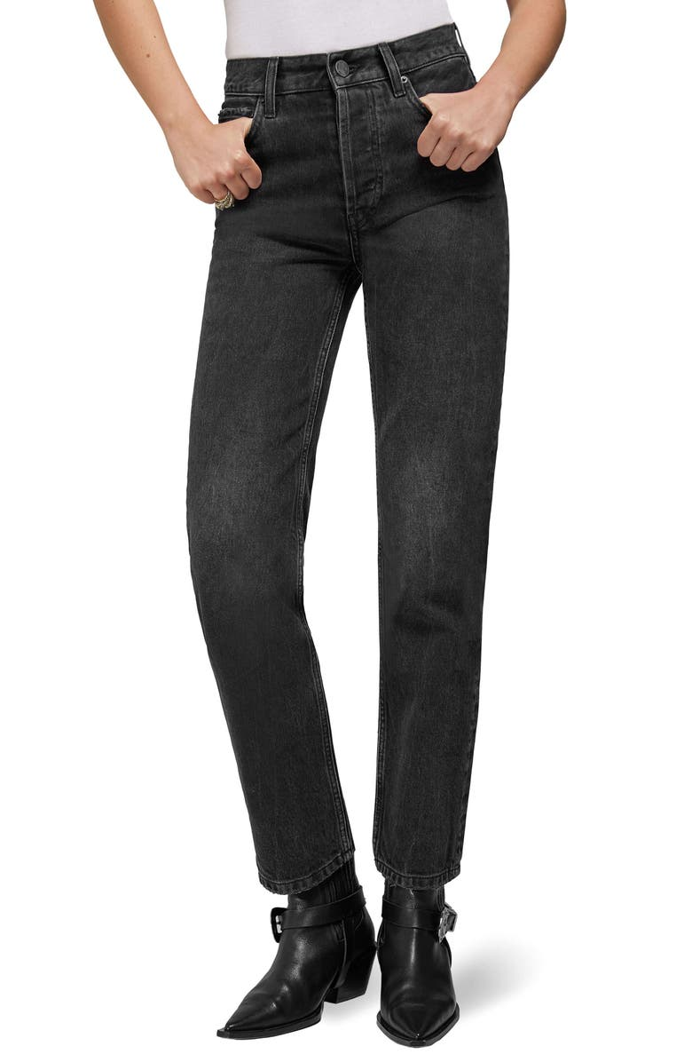 Jackie Raw Hem Straight Leg Jeans by Anine Bing