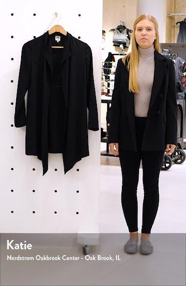Drape Front Long Jacket, sales video thumbnail