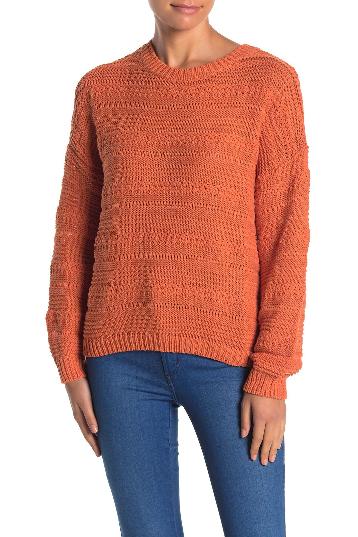 Image of Lush Crew Neck Pullover Sweater