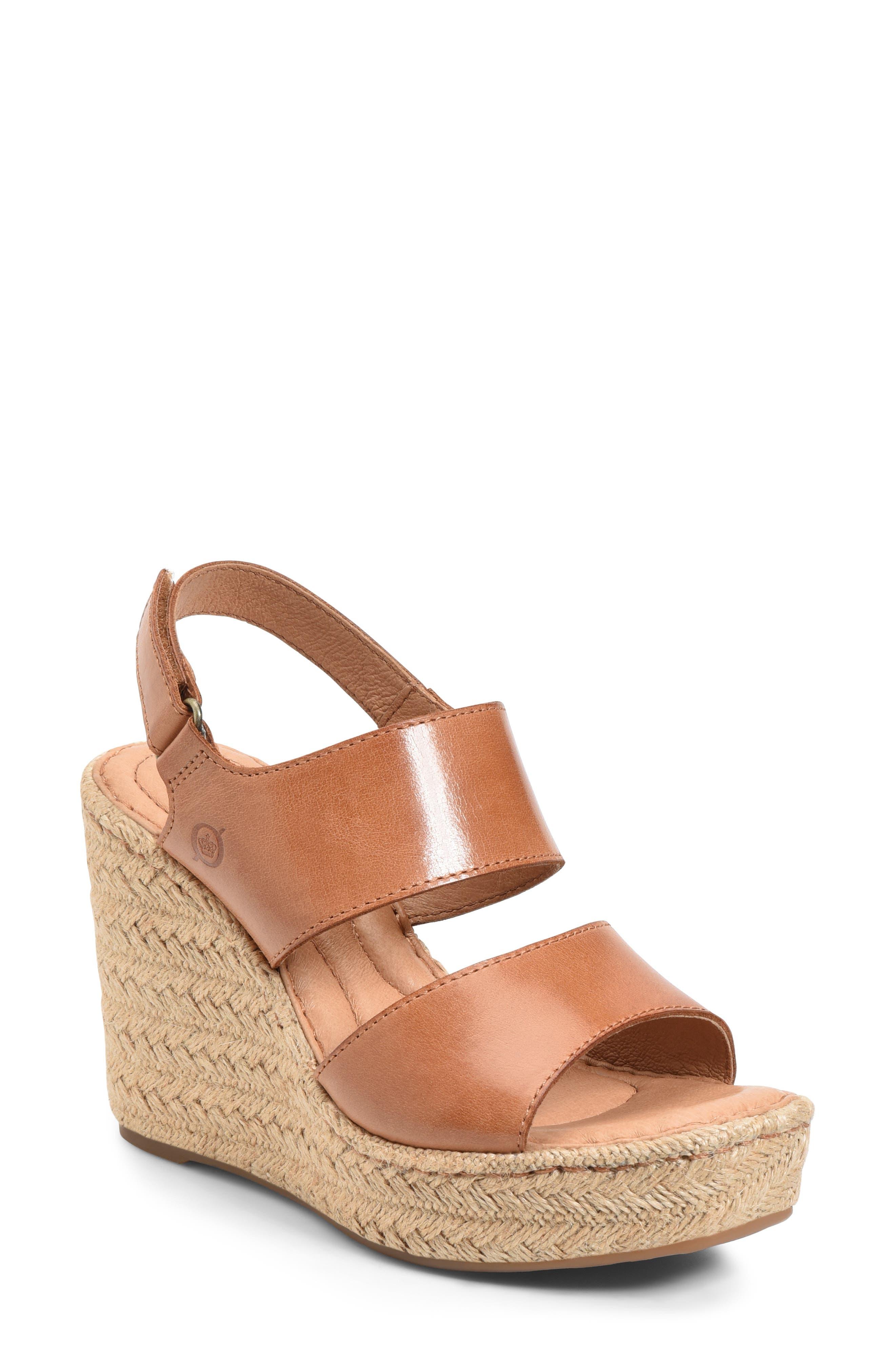 Women's B?rn Shoshone Platform Wedge Sandal
