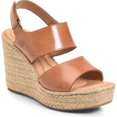 B?rn Shoshone Platform Wedge Sandal, Brown
