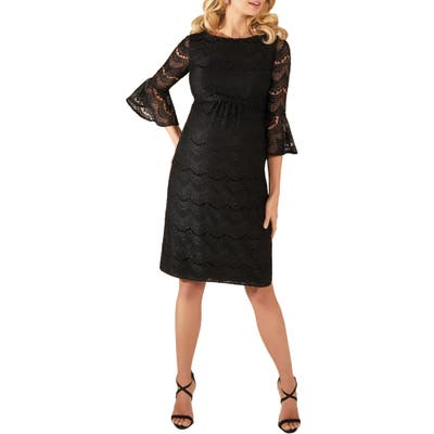 Tiffany Rose Jane Lace Maternity Cocktail Dress, Black