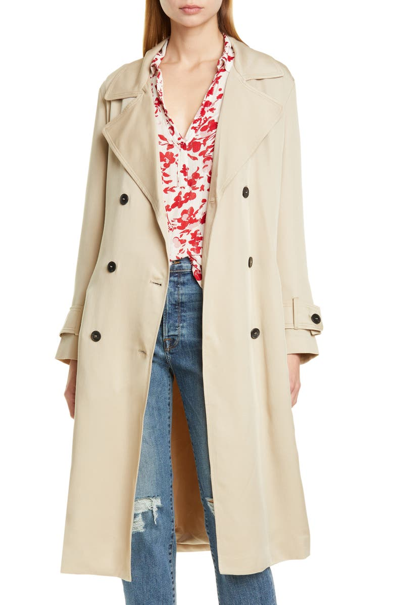 BA&SH Zurich Trench Coat, Main, color, 259