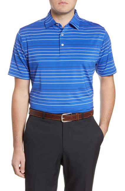 Image of Peter Millar Striped Short Sleeve Polo