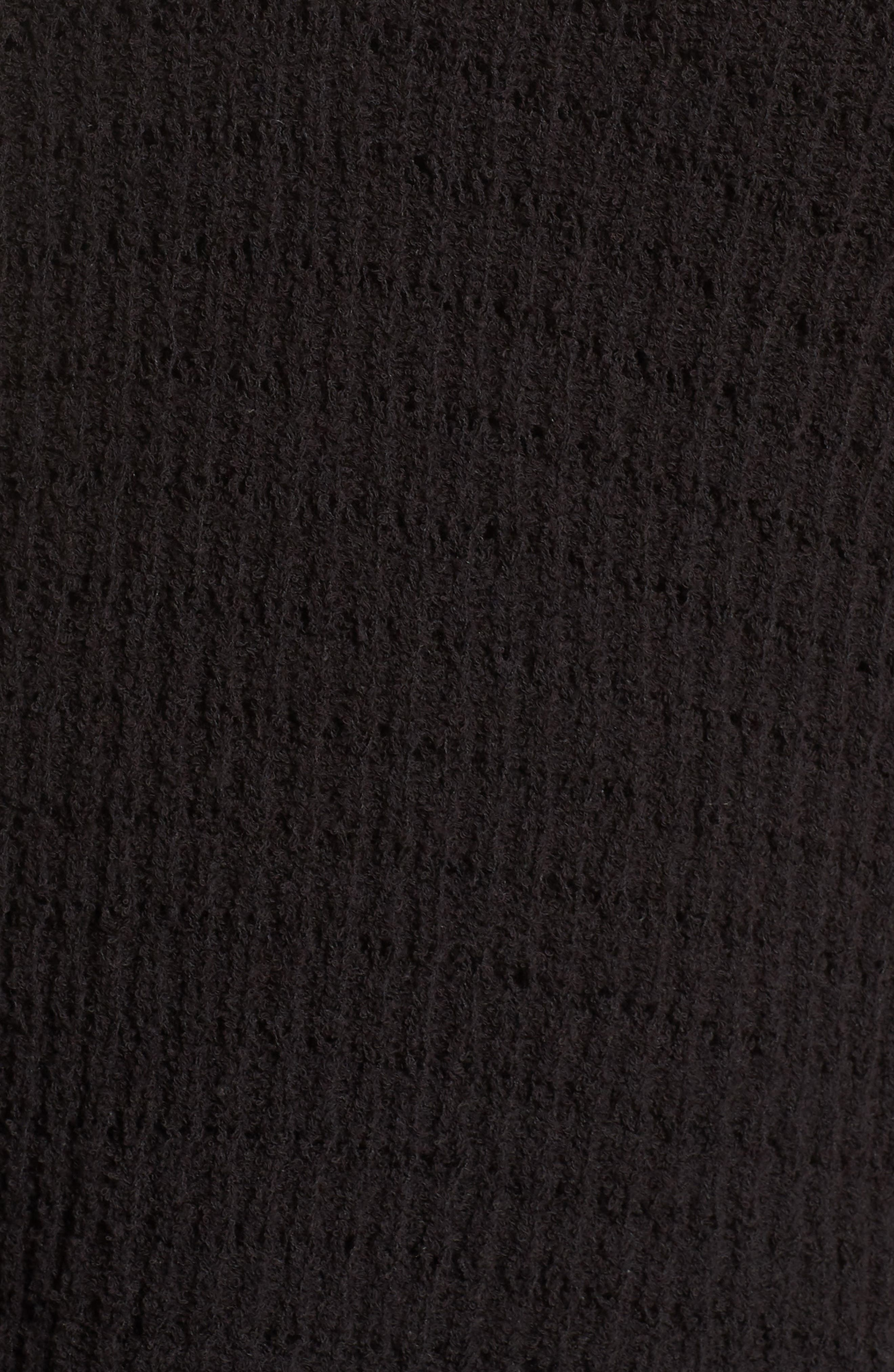 ,                             Tuck Stitch Sweater,                             Alternate thumbnail 5, color,                             001