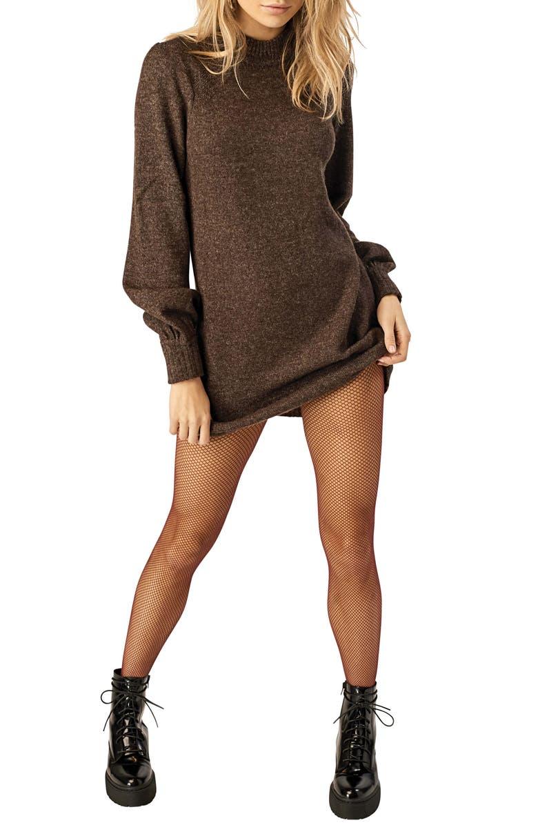 STONE ROW Nine 2 Five Sweater Dress, Main, color, 200