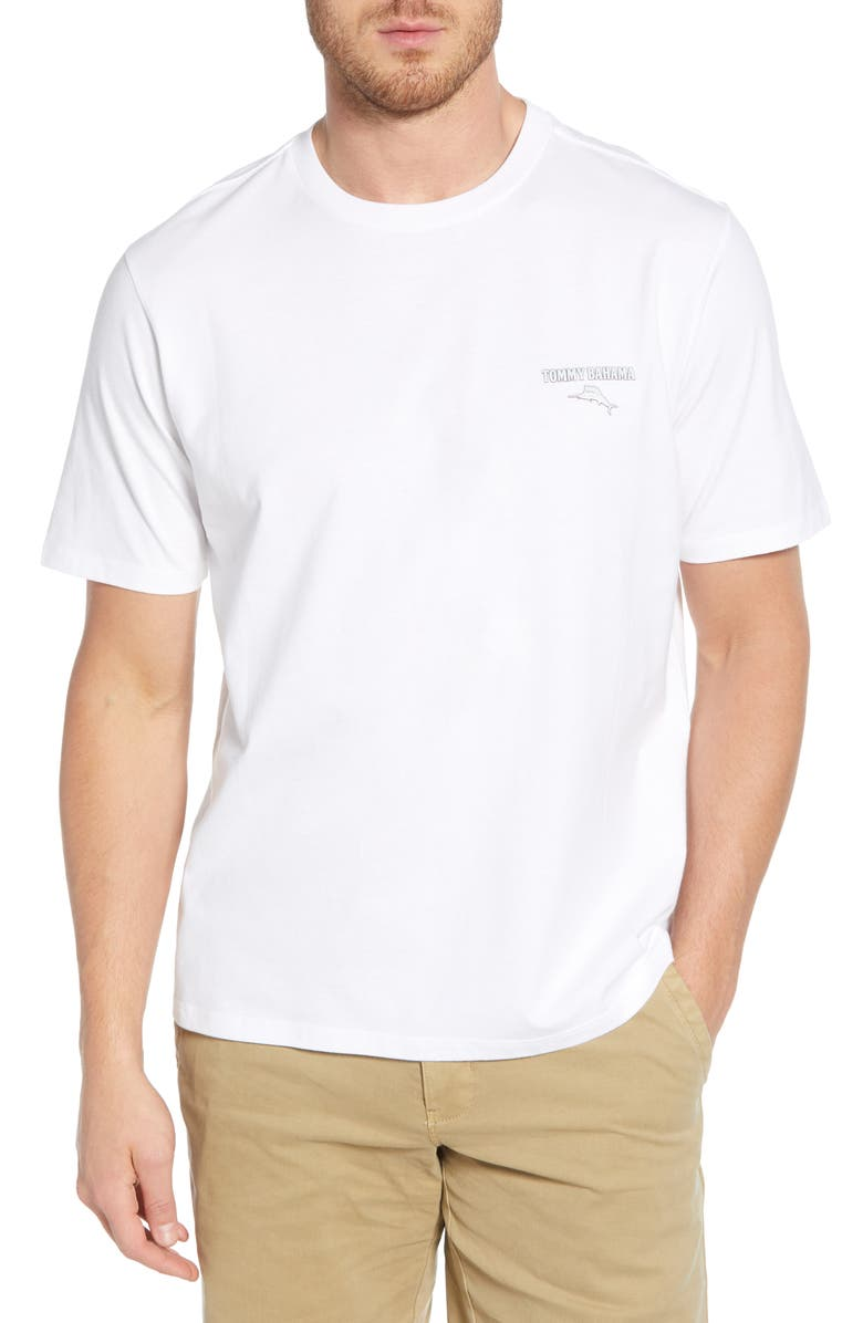 TOMMY BAHAMA Freeze Company Graphic T-Shirt, Main, color, WHITE