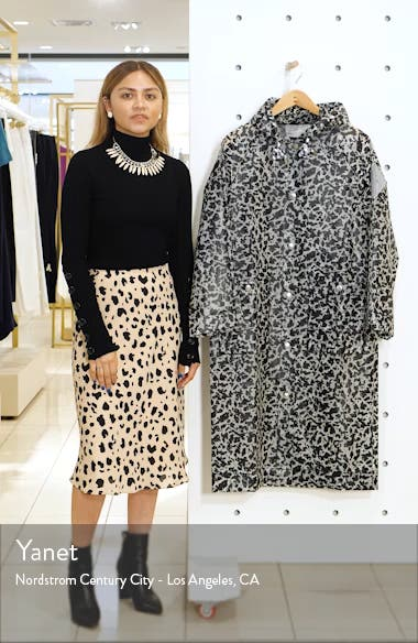 Proenza Schouler PSWL Marbled Longline Raincoat, sales video thumbnail