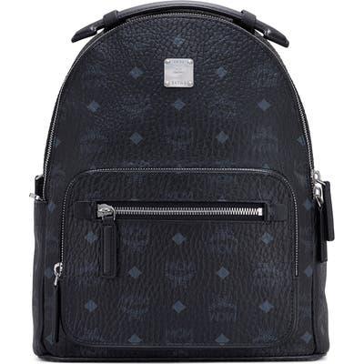 Mcm Stark 32 Visetos Coated Canvas Backpack - Black