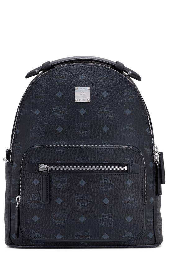 Mcm Stark 32 Visetos Coated Canvas Backpack In Black