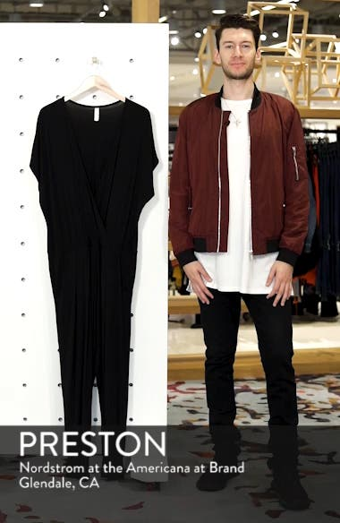 Short Sleeve Wrap Top Jumpsuit, sales video thumbnail