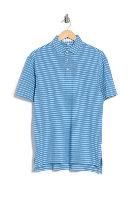Image of Peter Millar All the Way Donegal Stripe Polo