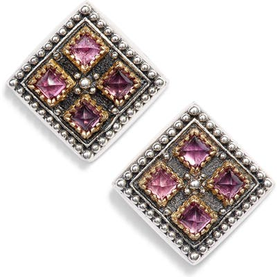 Konstantino Trillion Stone Stud Earrings