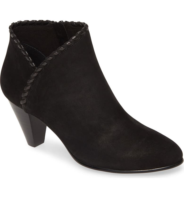 DAVID TATE Loft Bootie, Main, color, BLACK NUBUCK LEATHER