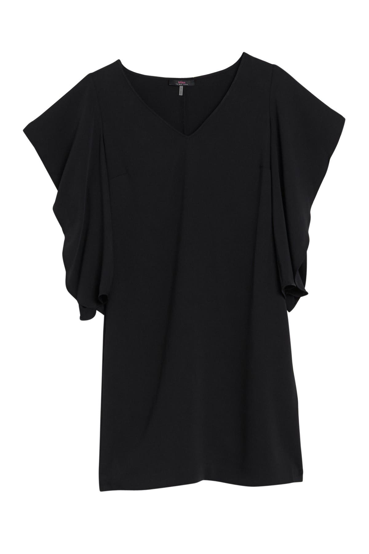 Image of trina Trina Turk Hiroshi Ruffle Sleeve Shift  Dress