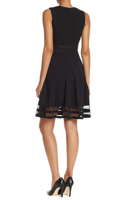 Image of Calvin Klein Fit & Flare Illusion Hem Dress