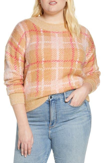Image of BP. Plaid Crewneck Sweater