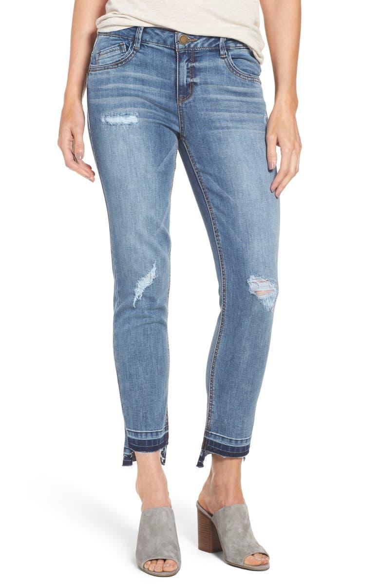 WIT & WISDOM Slim Straight Leg Ankle Jeans, Main, color, 420