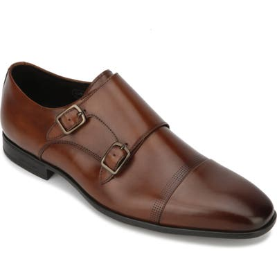 Kenneth Cole New York Regal Double Monk Strap Shoe, Brown