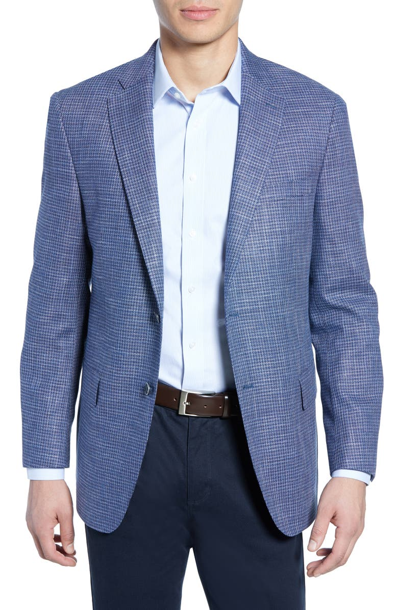 HART SCHAFFNER MARX New York Check Soft Sport Coat, Main, color, 420