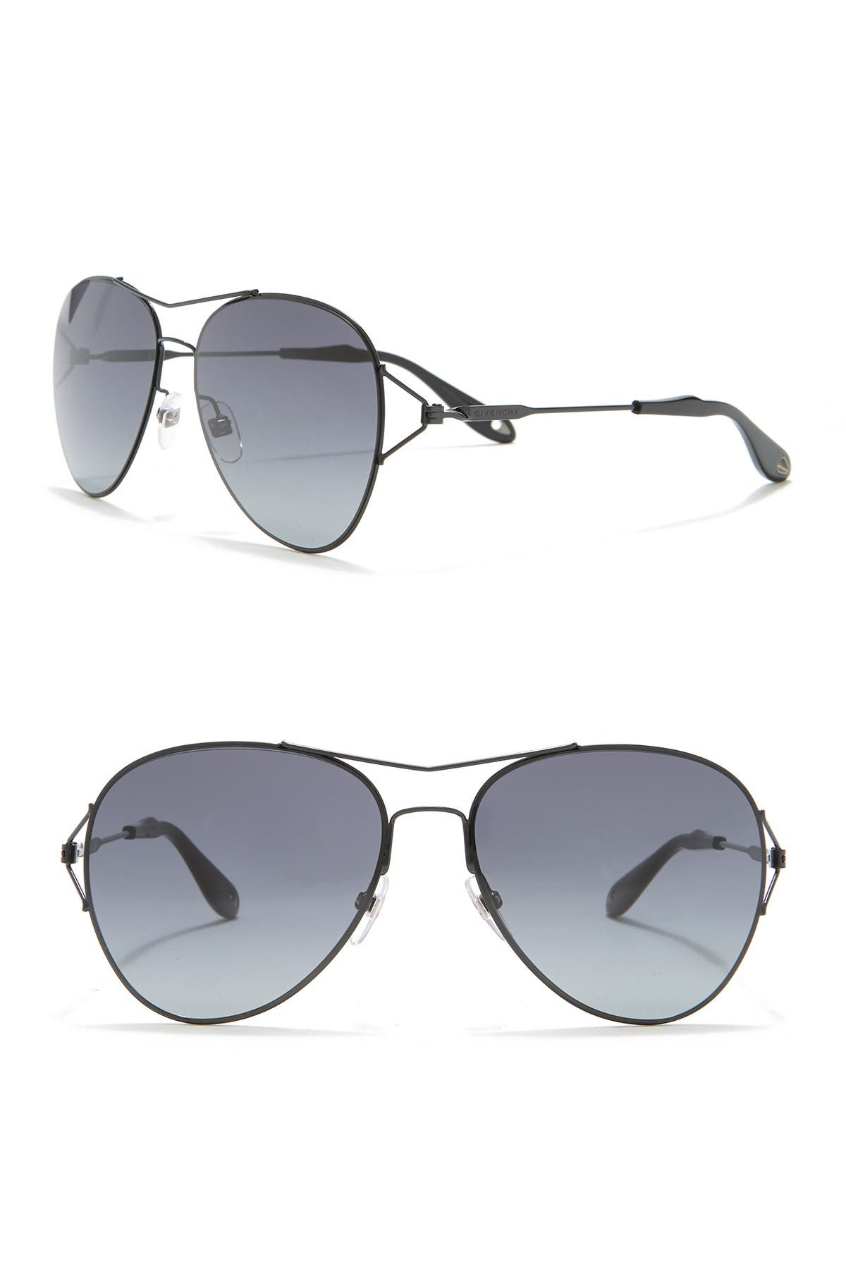 Image of Givenchy 56mm Aviator Sunglasses