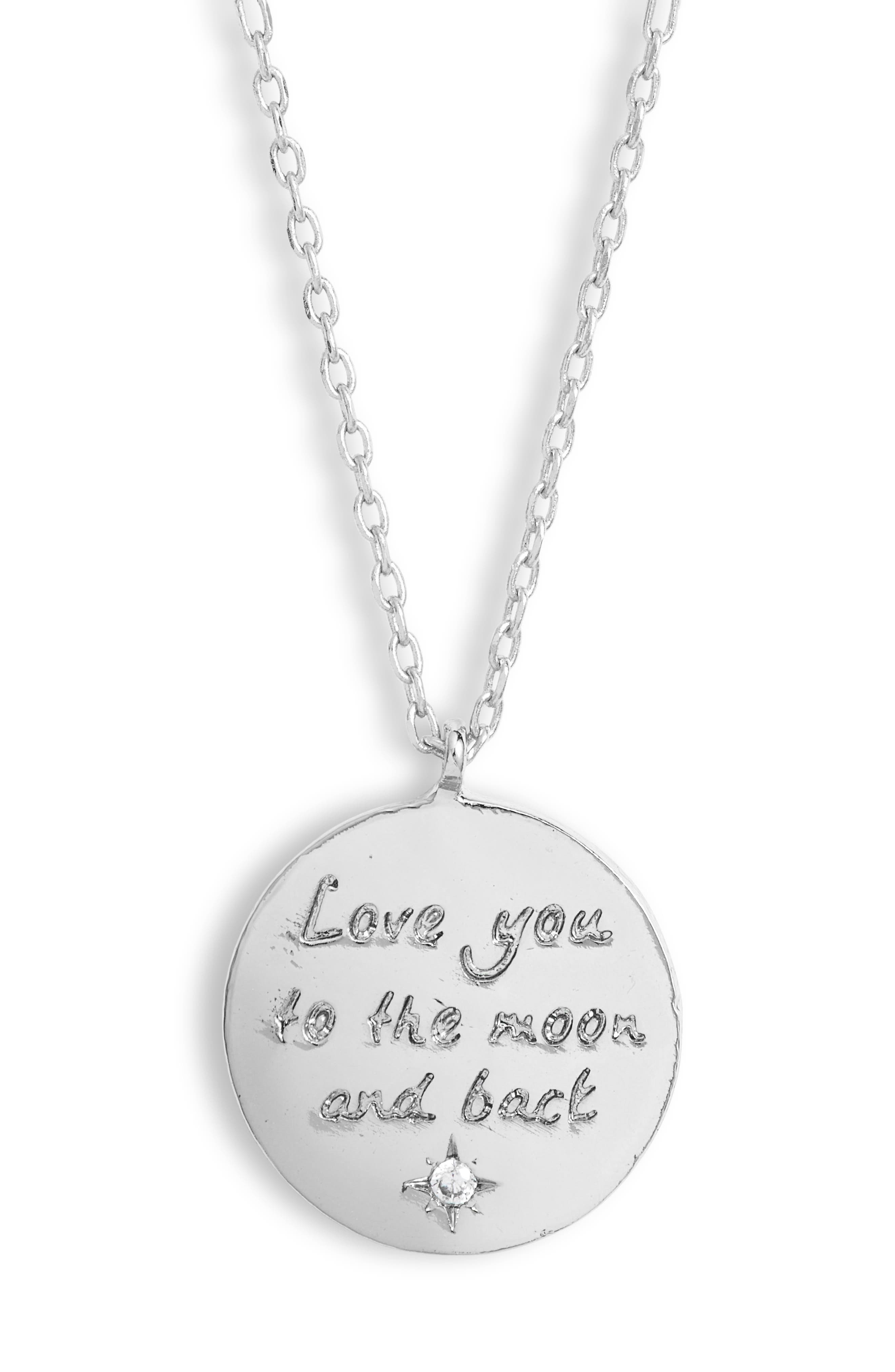 Love You To The Moon And Back Pendant Necklace