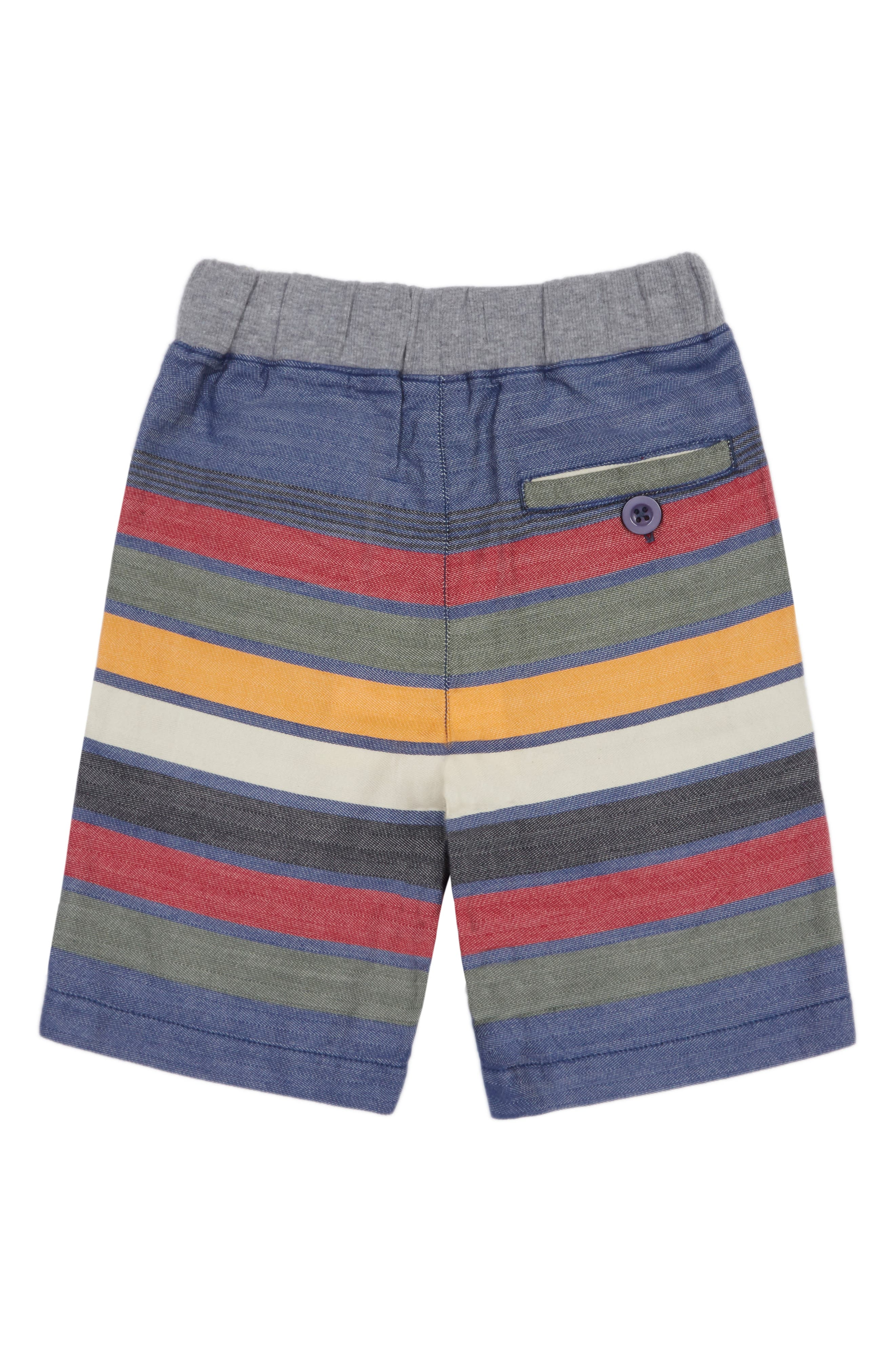 Peek Noah Striped Knit Pull-On Shorts