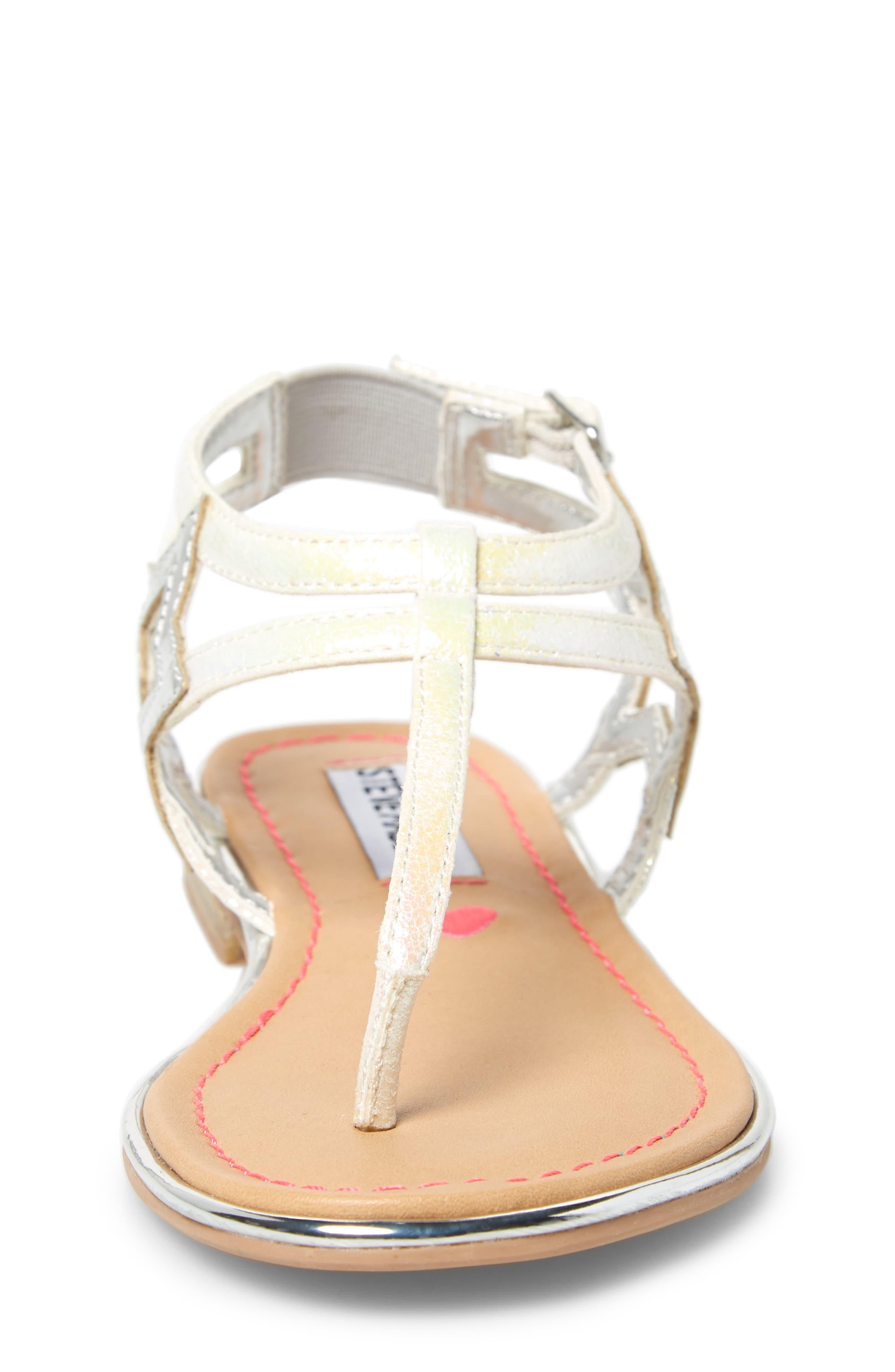 ,                             JSTRDUST Metallic Star Sandal,                             Alternate thumbnail 4, color,                             IRIDESCENT WHITE
