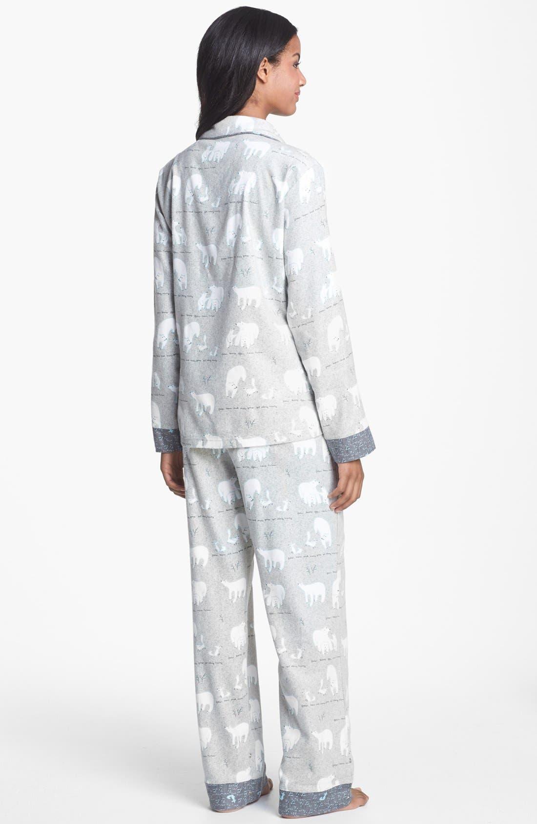 ,                             Flannel Pajamas,                             Alternate thumbnail 2, color,                             021