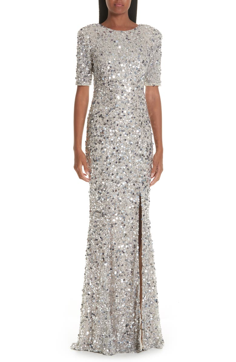RACHEL GILBERT Zowie Sequin Gown, Main, color, 040
