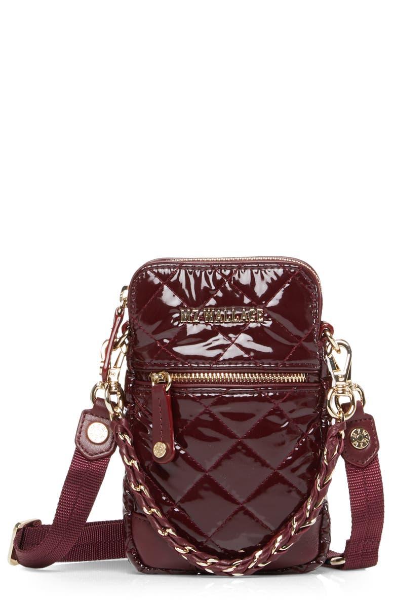 MZ WALLACE Micro Crosby Bag, Main, color, PORT LACQUER