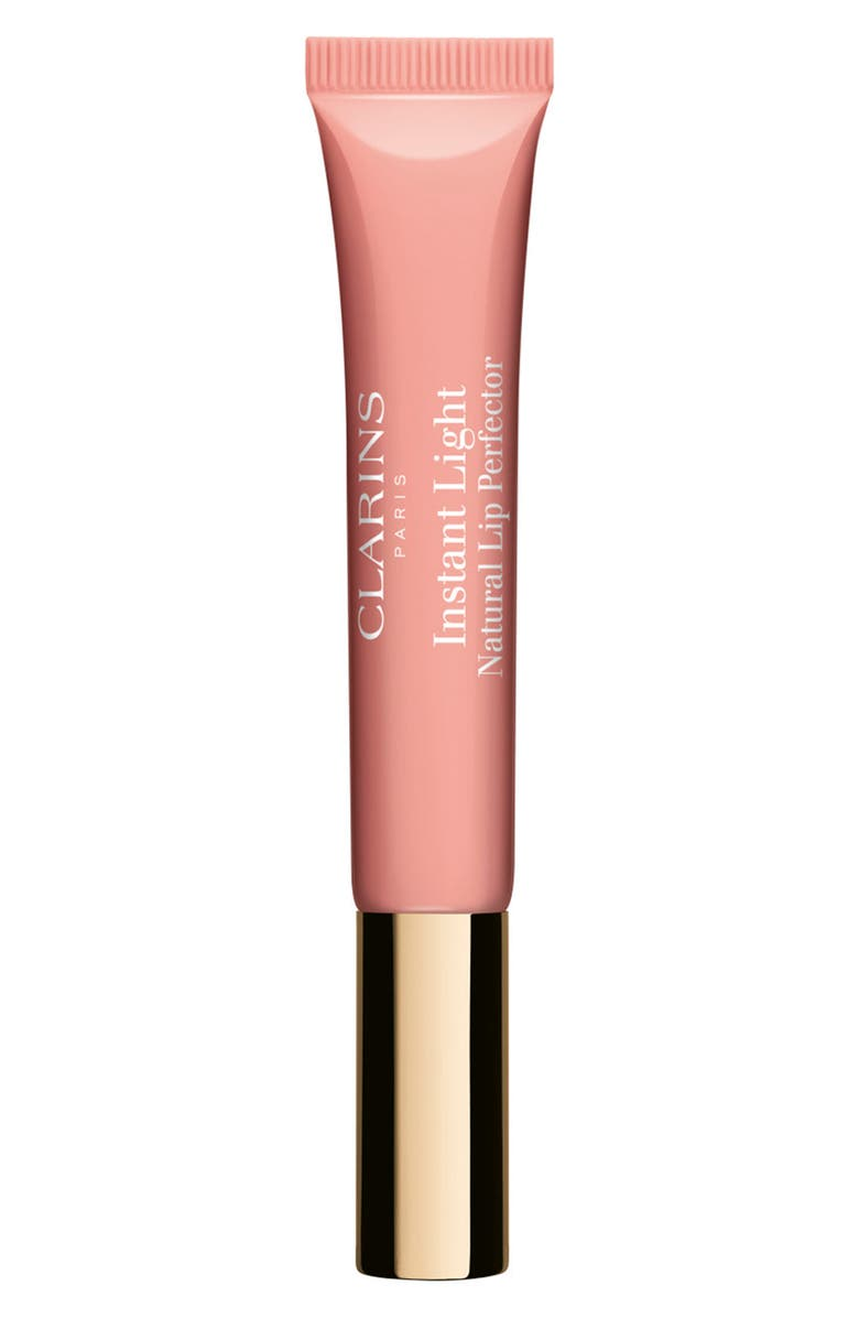 CLARINS Instant Light Natural Lip Perfector Lip Gloss, Main, color, APRICOT SHIMMER 02