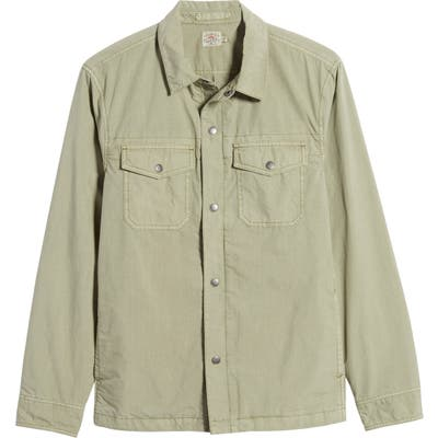 Faherty Cooper Shirt Jacket, Green