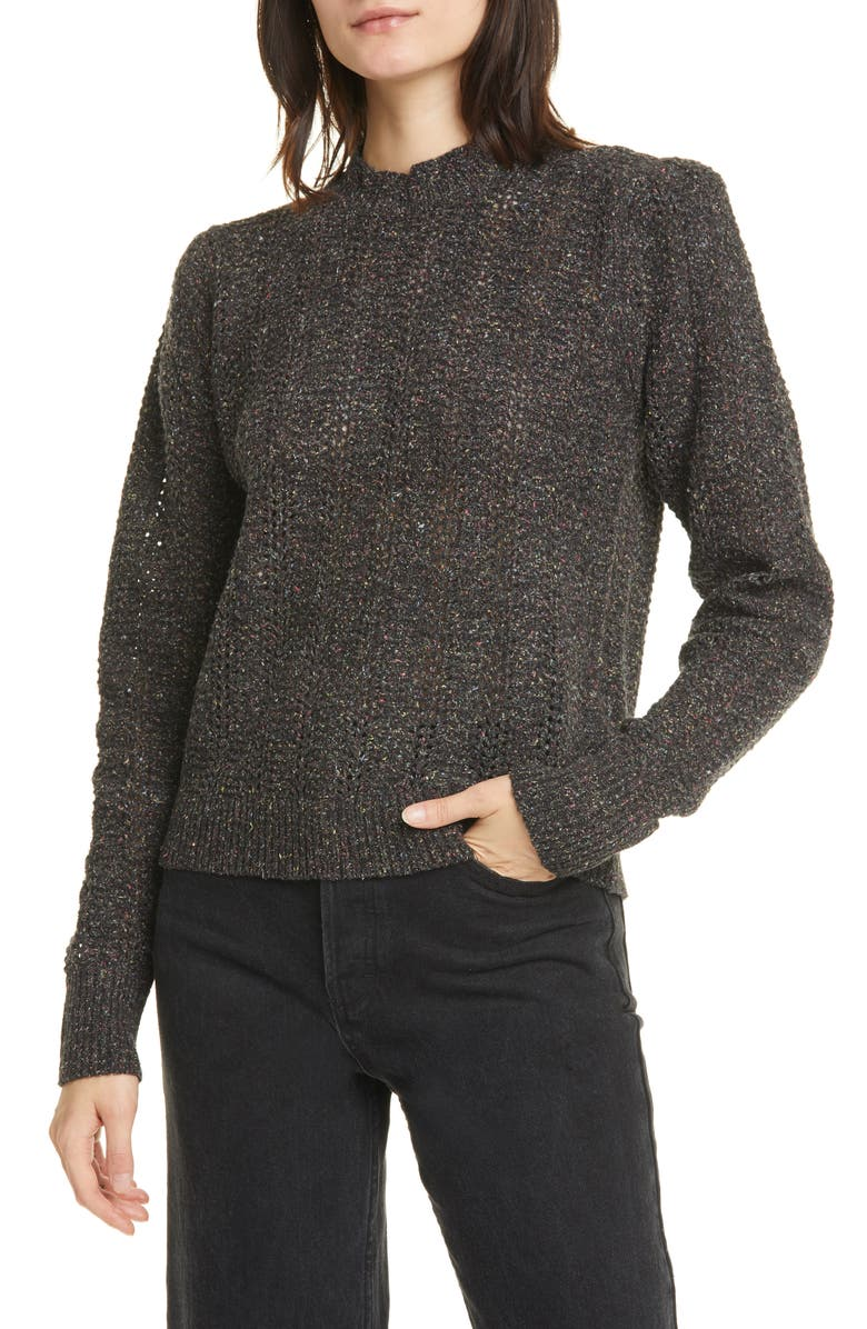 JOIE Sumitra Sweater, Main, color, CAVIAR