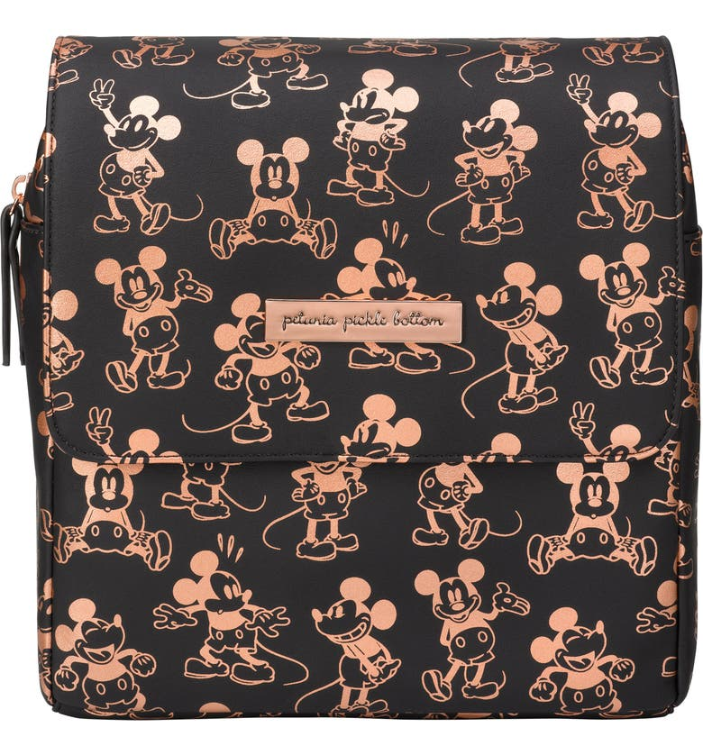 PETUNIA PICKLE BOTTOM x Disney Mickey Mouse Mini Boxy Backpack, Main, color, METALLIC MICKEY MOUSE