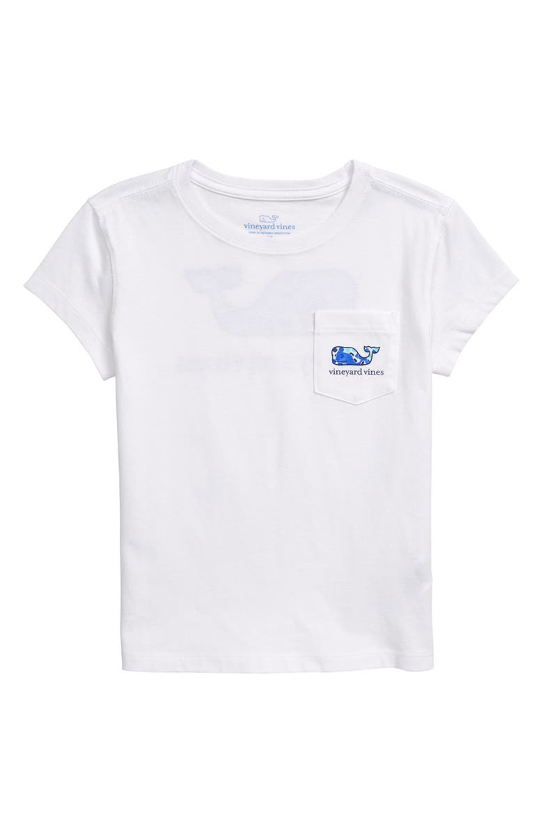 VINEYARD VINES Whale Pocket Tee, Main, color, WHITE CAP