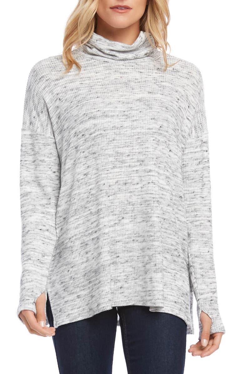 KAREN KANE Turtleneck Sweater, Main, color, HEATHER GREY