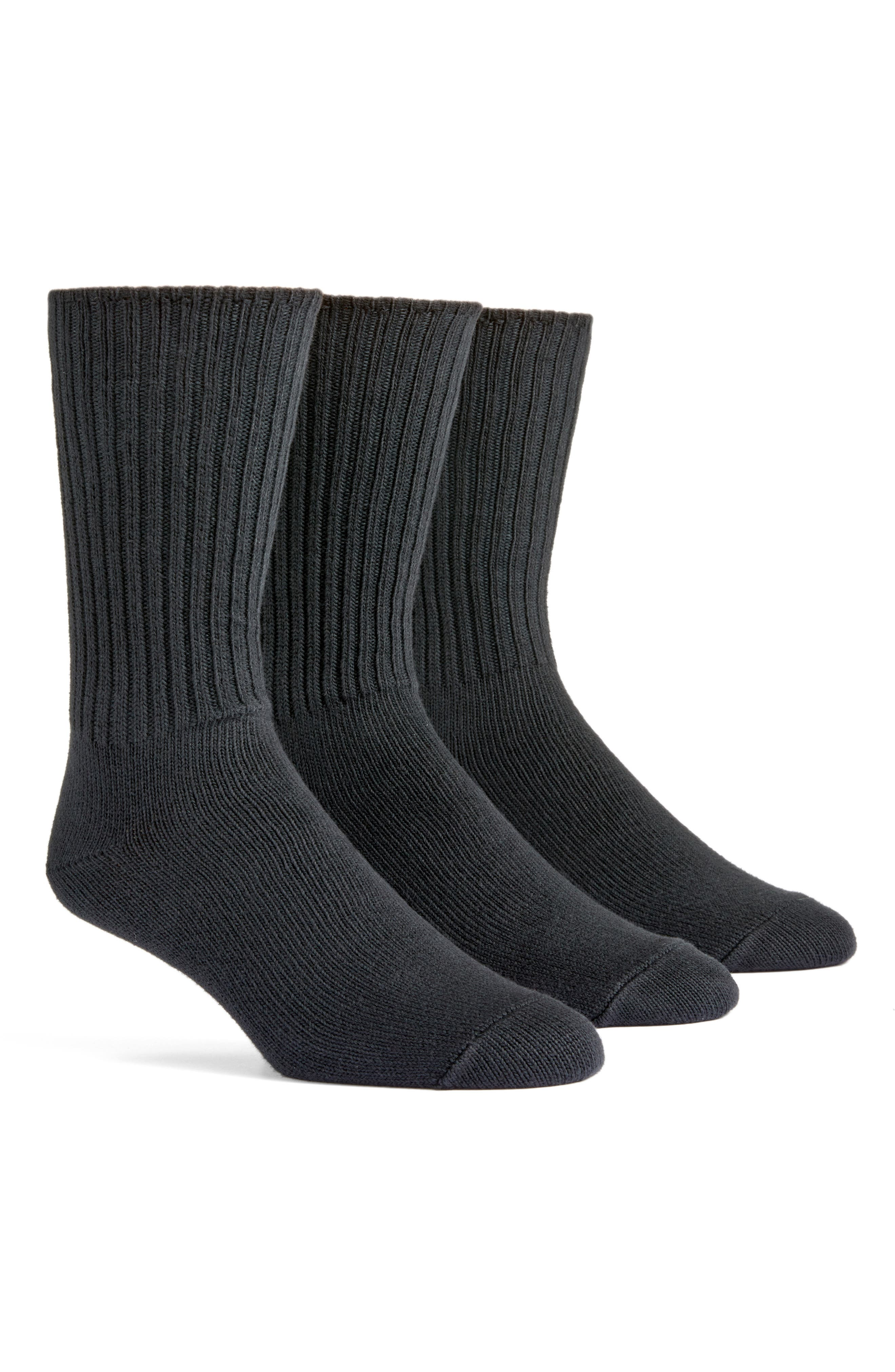 3-Pack Organic Cotton Blend Crew Socks
